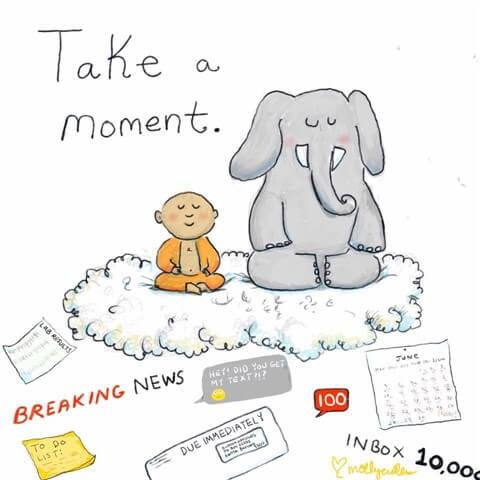 take a moment from Buddha Doodles